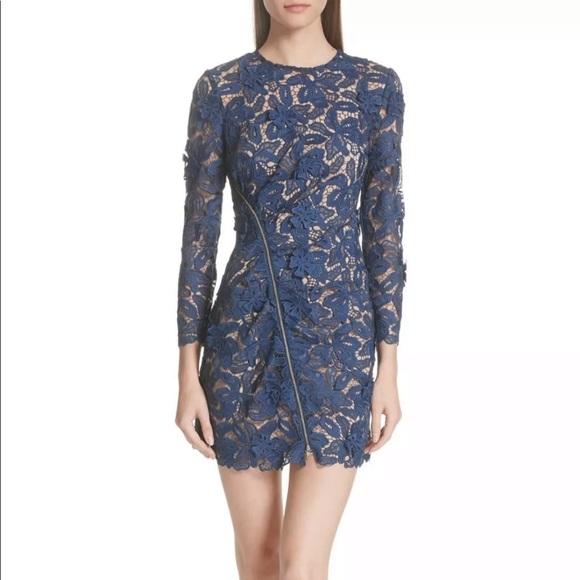 989dd41225aa Self-Portrait Dresses   Self Portrait Lily Blue Lace Mini Dress Us 0 ...